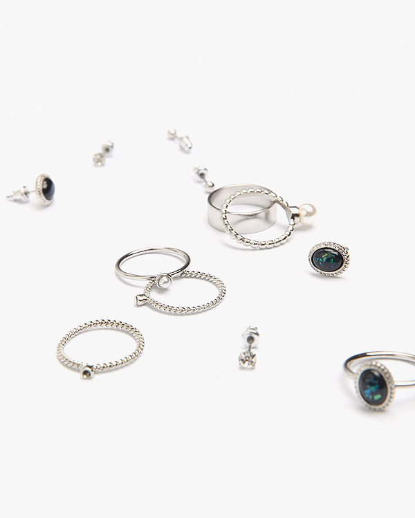 high ring earring set