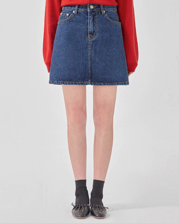 just denim mini skirt (s, m, l)