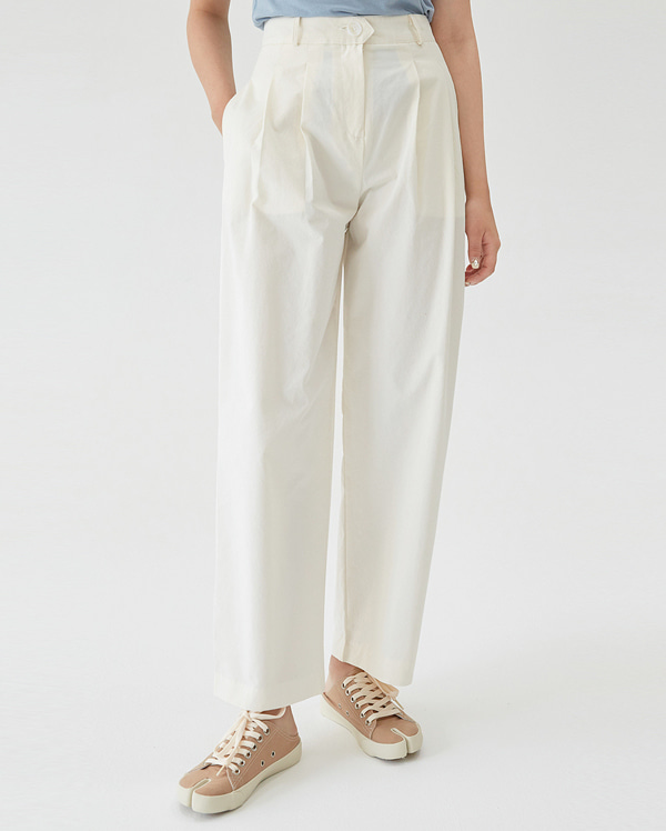 pin tuck wide pants (s, m)