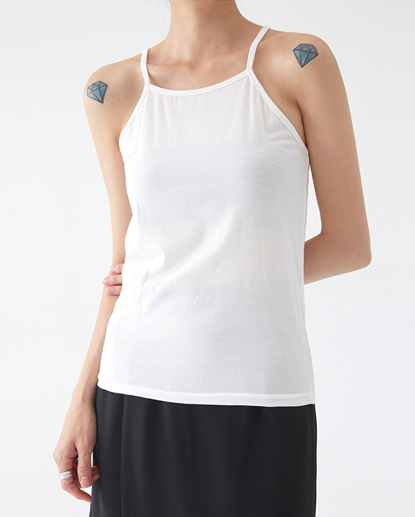 a simple line sleeveless