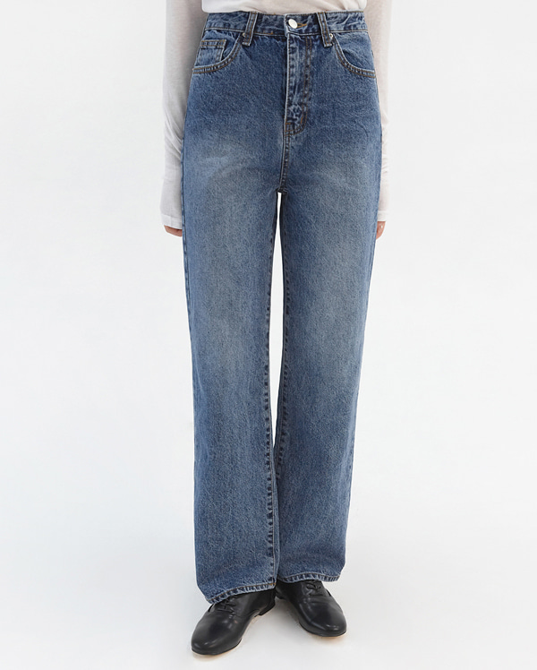 long straight denim pants (s, m, l)