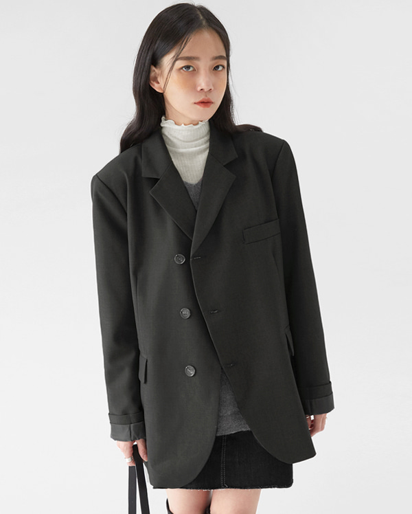 eve unbalance button jacket