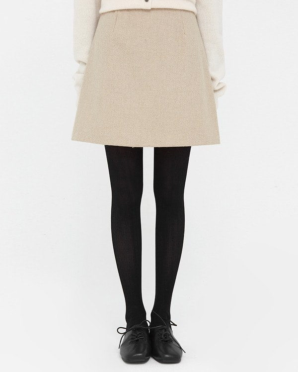 cute line wool mini skirt (s, m)