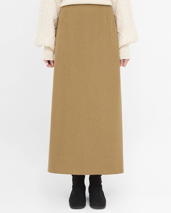 richness wool long skirt