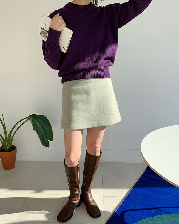 bean line wool skirts (s, m)