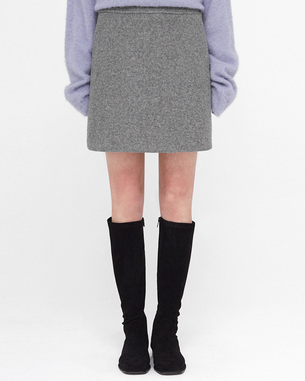 dear mini wool skirt (s, m)