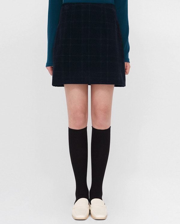 a corduroy check mini skirts (s, m)