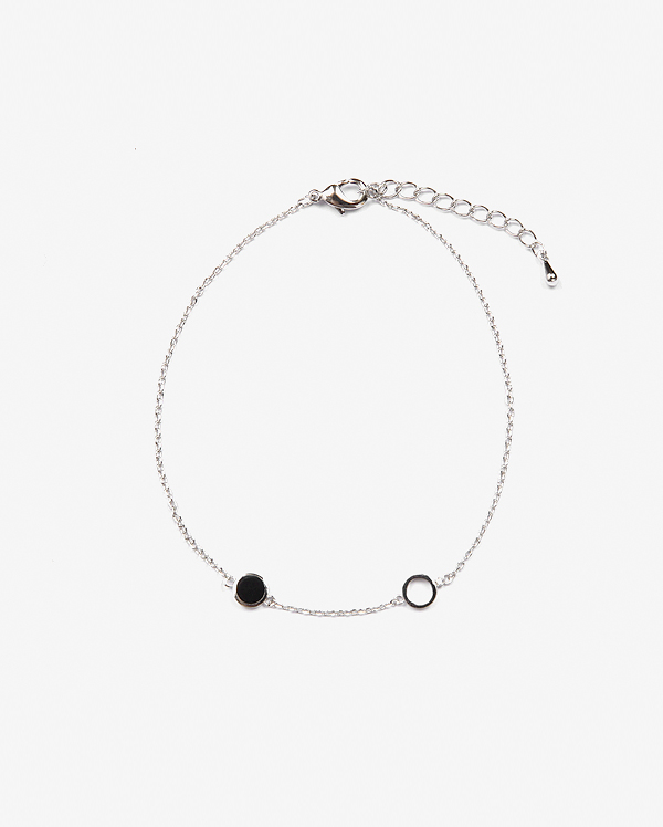 two circle ankle bracelet