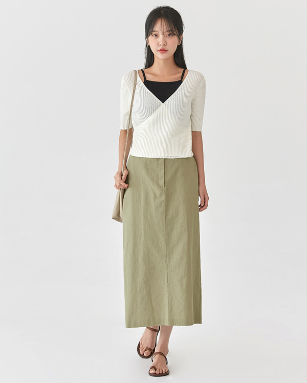 lavie cotton long skirt