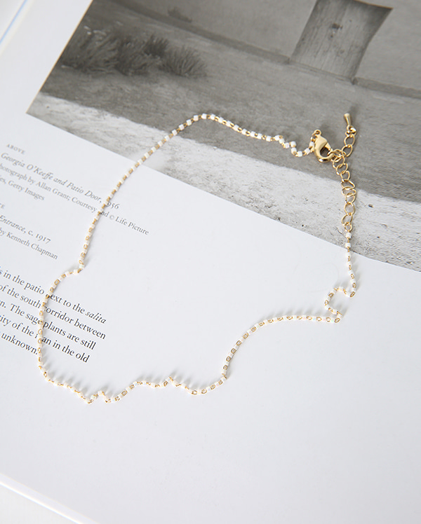 lovely beads gold choker