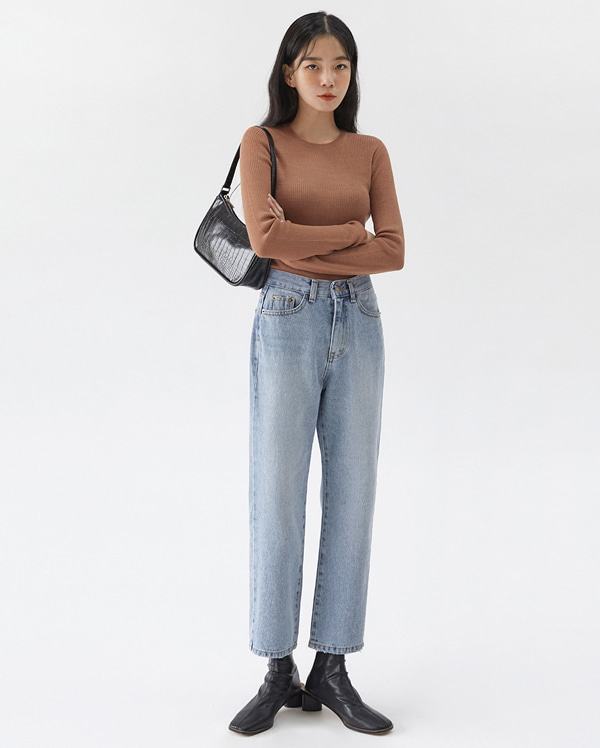 mood bean denim pants (s, m)