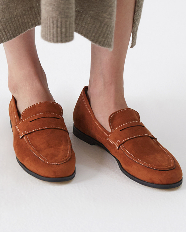 roll coin suede loafer (230-250)