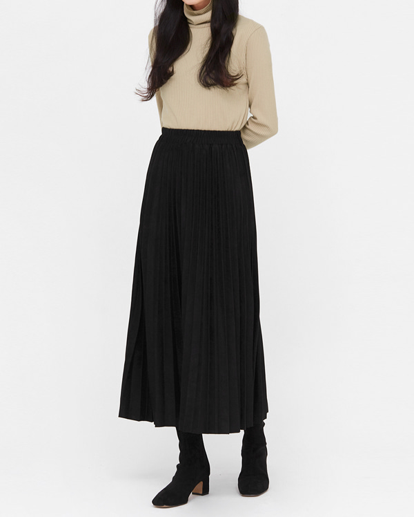 voll suede pleats long skirts