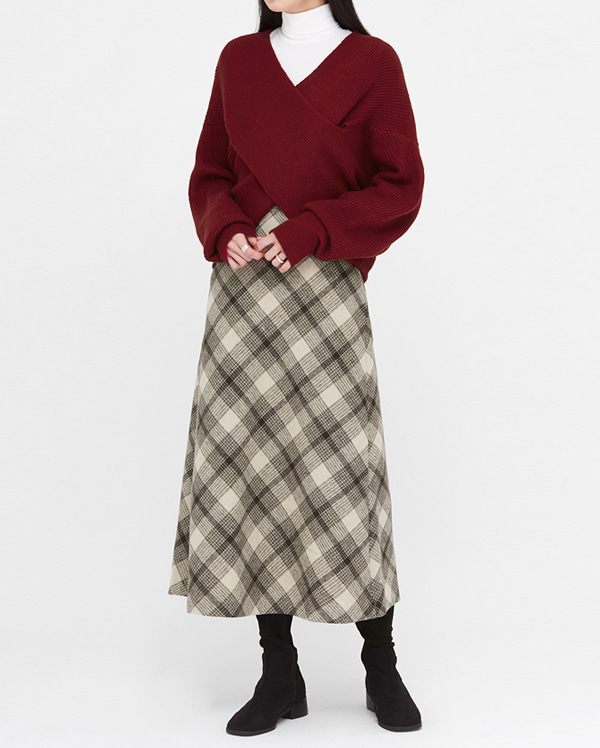 departure check long skirts (s, m)